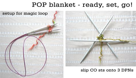 magic loop method of knitting pop blanket tutorial tin can knits