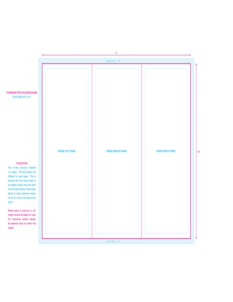 standard tri fold brochure template free download