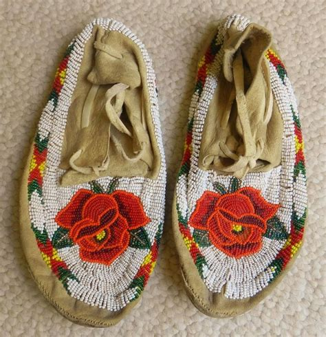 beaded american moccasins antique american indian beaded moccasins beaded