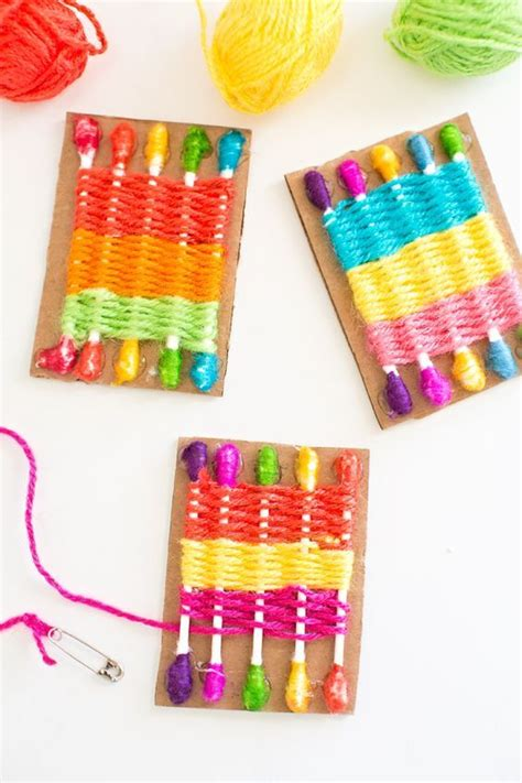 craft loops projects how to make a q tip weaving loom for easy way to