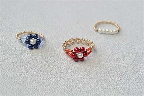 bead ring pandahall tutorial on how to make simple beaded flower