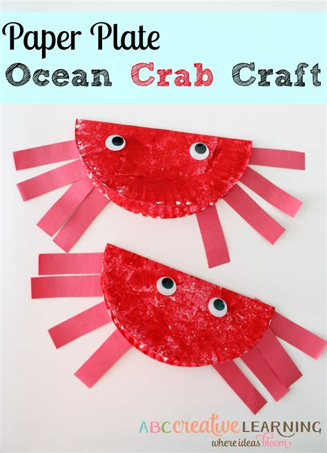 summer paper crafts for easy paper plate crab craft for to celebrate