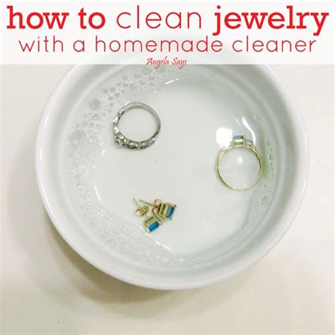 how to make silver jewelry cleaner jewelry cleaner how to make jewelry cleaner for diamonds