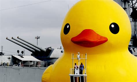 los angeles rubber st company los angeles port welcomes rubber duck daily mail
