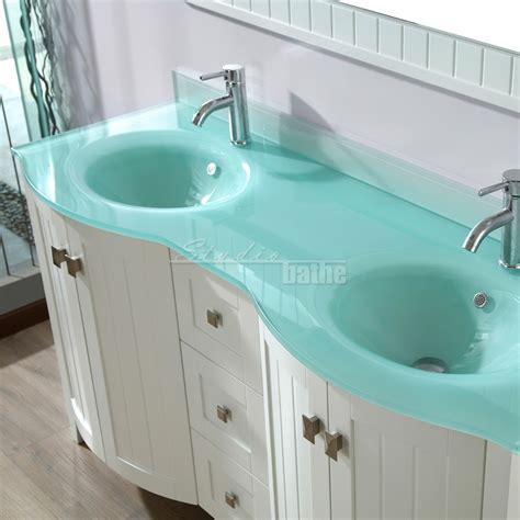 glass bathroom vanity top bridgeport 60 inch white modern bathroom vanity mint green