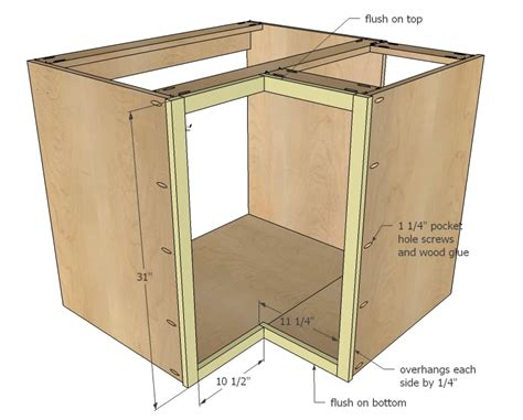 woodworking cabinet plans plans to build building a corner cabinet for the kitchen