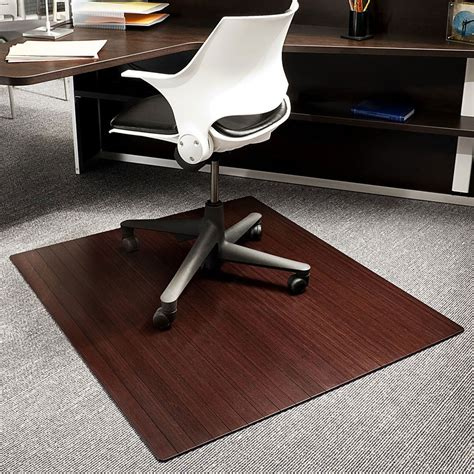 Bamboo Desk Chair Mat by Bamboo Office Chair Mat 42x48 Inch In Chair Mats