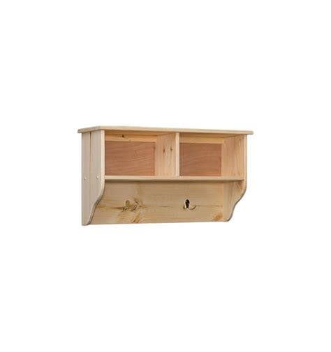 32 inch amish double cubby wall shelf unlimited