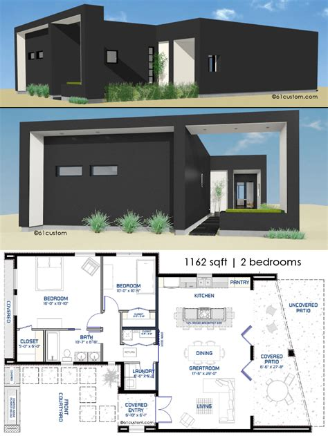 modern house blueprints small front courtyard house plan 61custom modern house plans