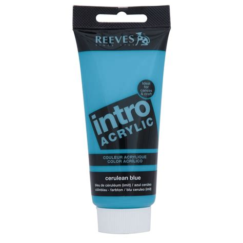 acrylic paint bunnings reeves intro acrylic paint 100ml cerulean blue bunnings