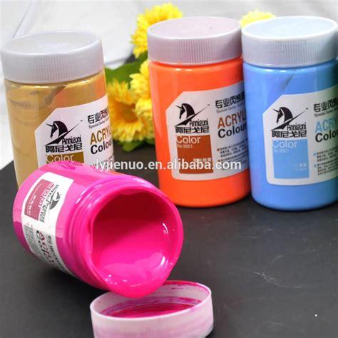 acrylic paint used on plastic 300ml plastic bottle professional color acrylic paint