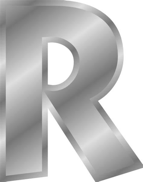 silver letter effect letters alphabet silver r clip at clker