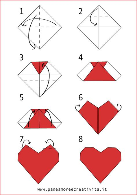 origami i come fare un cuore origami pane e creativit 224