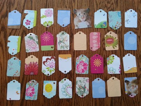 crafts with cards gift tags made from greeting cards recycling