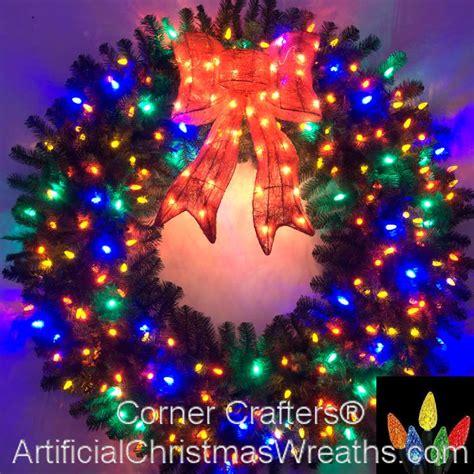 large multi colored lights 5 foot multi color l e d wreath