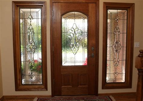 stained glass inserts for exterior doors leaded glass inserts for front doors decorative leaded