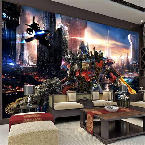 transformers bedroom transformers optimus prime wallpaper wall mural 3d