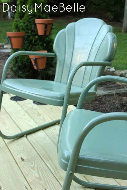 spray painting metal chairs diy favorites and features fox hollow cottage