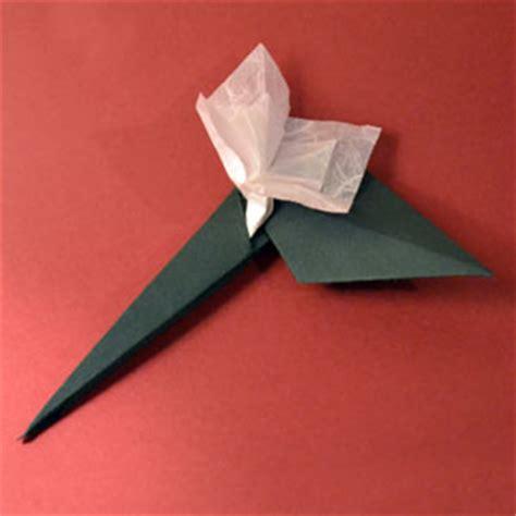 origami stem and leaf origami leaf stem
