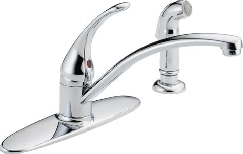 delta kitchen faucet warranty delta b4410lf chrome foundations kitchen faucet with side
