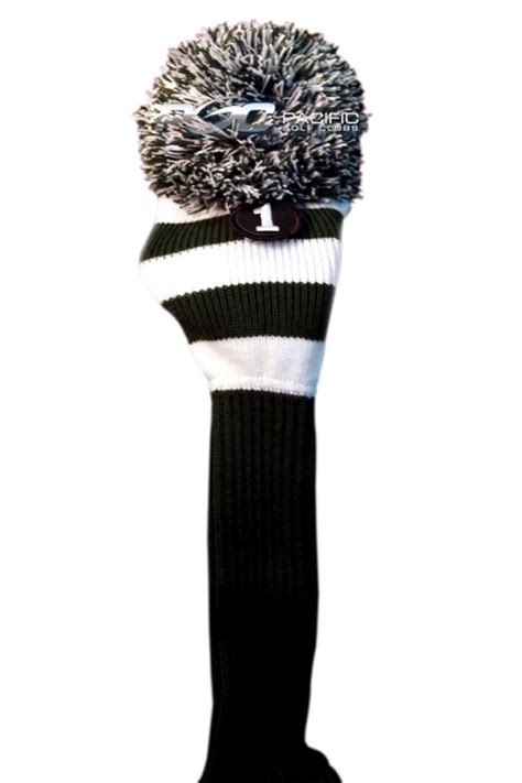 knit golf club headcovers new 1 green white knit pom headcover golf club cover