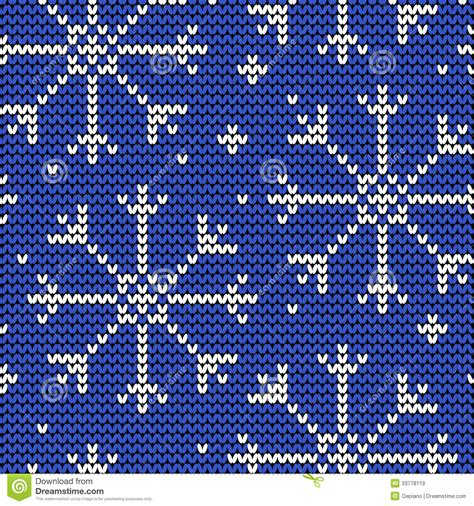 knit snowflake ornament pattern knitted seamless winter pattern with snowflakes stock