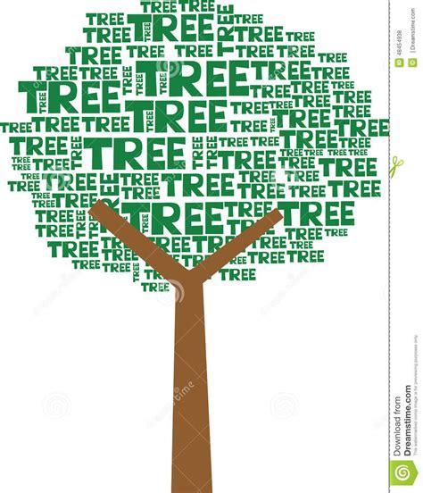 tree text tree text stock illustration image 48454938