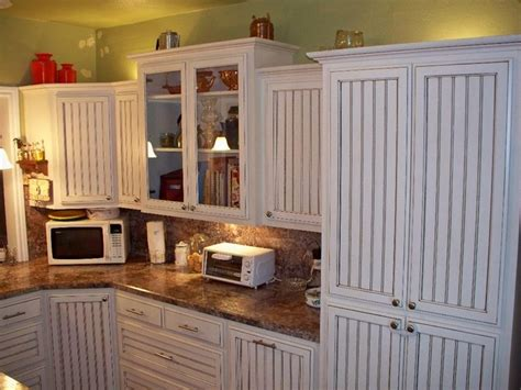 bead board in kitchen white glazed beadboard kitchen by oak tree cabinetry