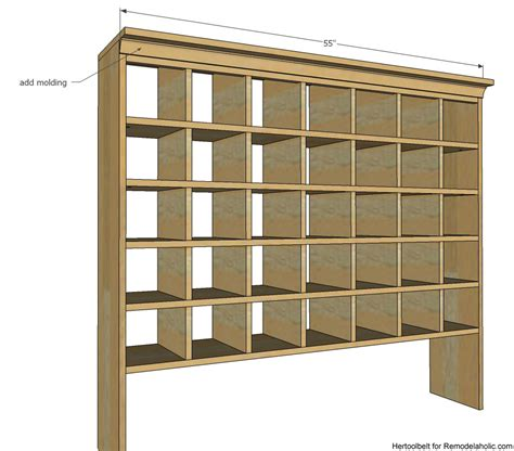 shoe cubby woodworking plans remodelaholic build a vintage mail sorter shoe cubby