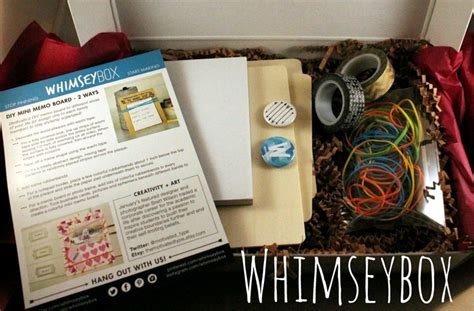monthly craft boxes for whimseybox monthly diy craft box monthly boxes