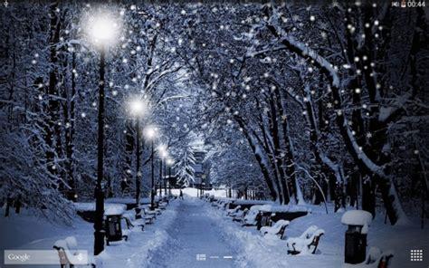 winter snow pour android 224 t 233 l 233 charger gratuitement fond d 233 cran anim 233 neige d hiver sous android
