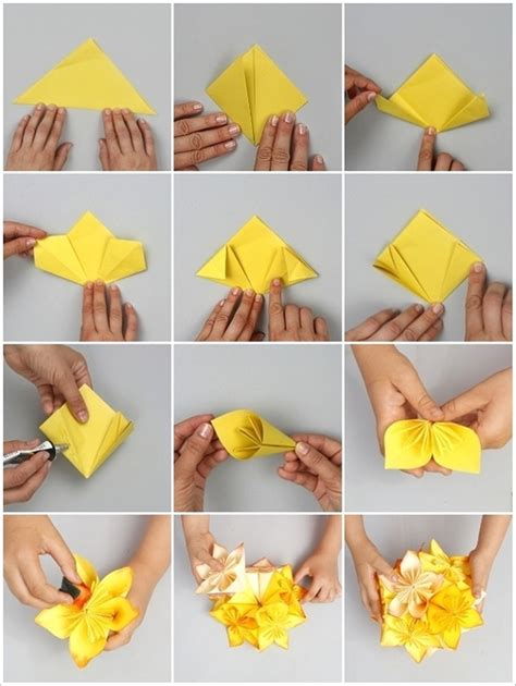 how to make a craft paper flower wonderful diy origami kusudama flower