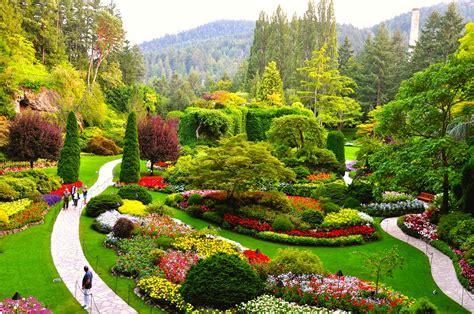photos of gardens alaska shore experts butchart gardens