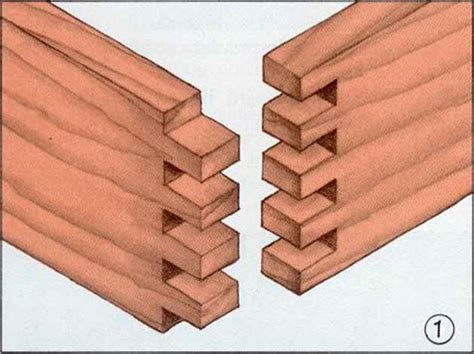 interlocking woodworkers joint finger joint boxes joining wood woodworking archive