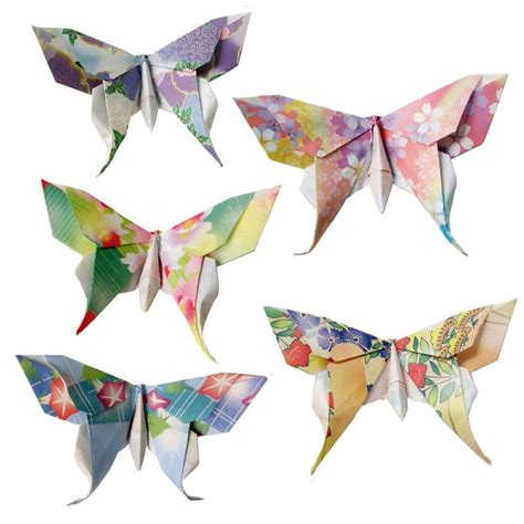 origami swallowtail butterfly 20 small swallowtail 3d origami butterflies floral print