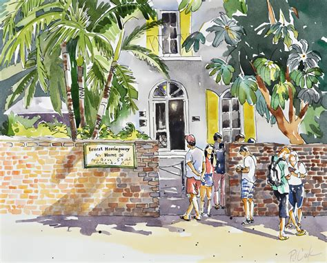 key west painting key west ernest hemingway home landscape painting new