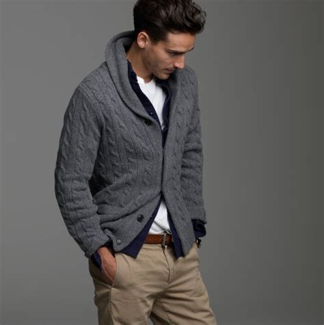 how to wear a knitted cardigan j crew wool cable shawl collar cardigan pursuitist