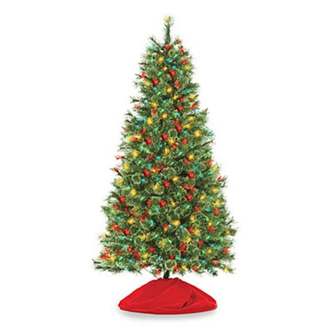 multi colored pre lit tree 6 pre lit artificial tree deluxe with