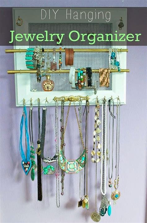 how to make a hanging jewelry organizer diy hanging jewelry organizer