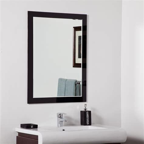 wall bathroom mirror decor aris modern bathroom mirror beyond stores