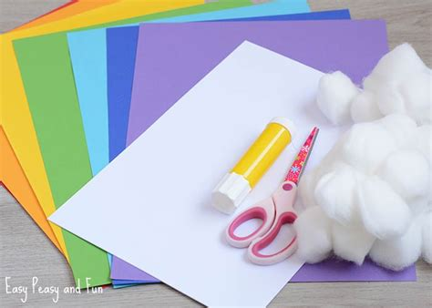 colored paper crafts simple 3d rainbow paper craft easy peasy and