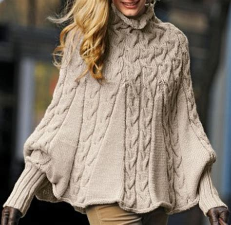 poncho knitting pattern with sleeves knit turtleneck poncho with sleeves made to order