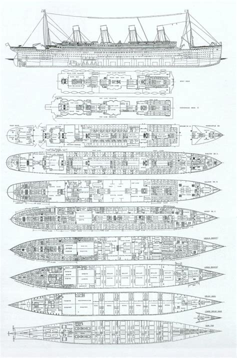 titanic floor plan rms titanic ship of dreams