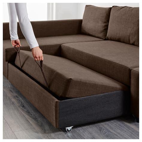sofa bed and storage friheten corner sofa bed with storage skiftebo brown ikea