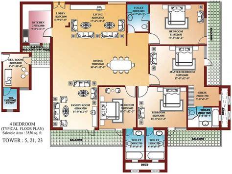 4 bedroom flat floor plan unique 4 bedroom home blueprints small 4 bedroom house