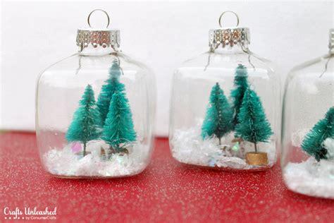 and crafts for ornaments snow globe mini ornaments tutorial