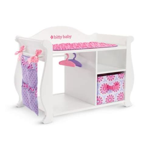 doll changing tables bitty s baby doll changing table storage american