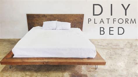 how to make a platform bed frame with drawers diy modern platform bed modern builds ep 47