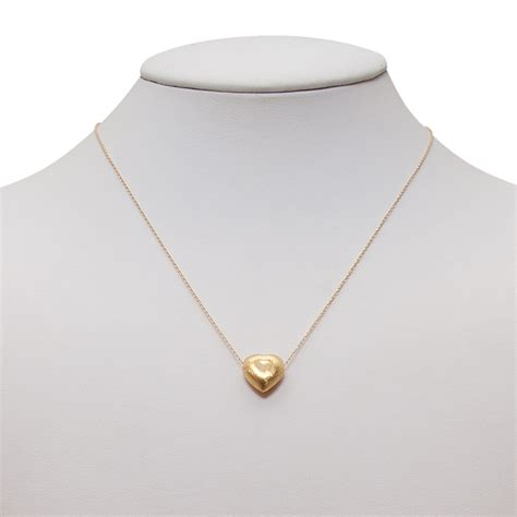 small necklace brushed small pendant gold necklace ktcollection