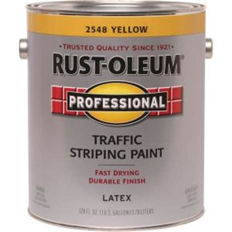 home depot yellow paint suit rust oleum professional 1 gal flat yellow traffic